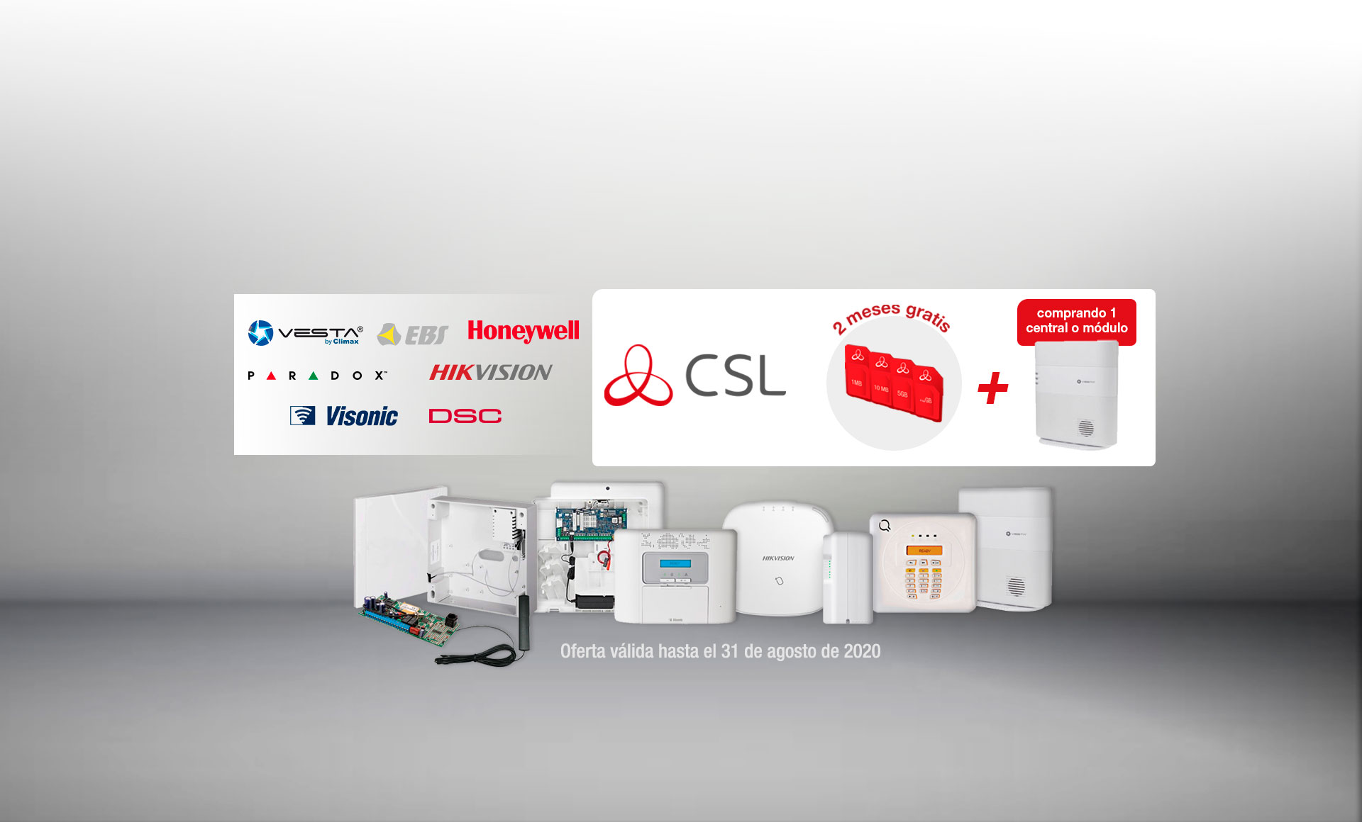 <B>2 meses de conectividad CSL gratis por la compra de cualquier central o módulo de By Demes</B>