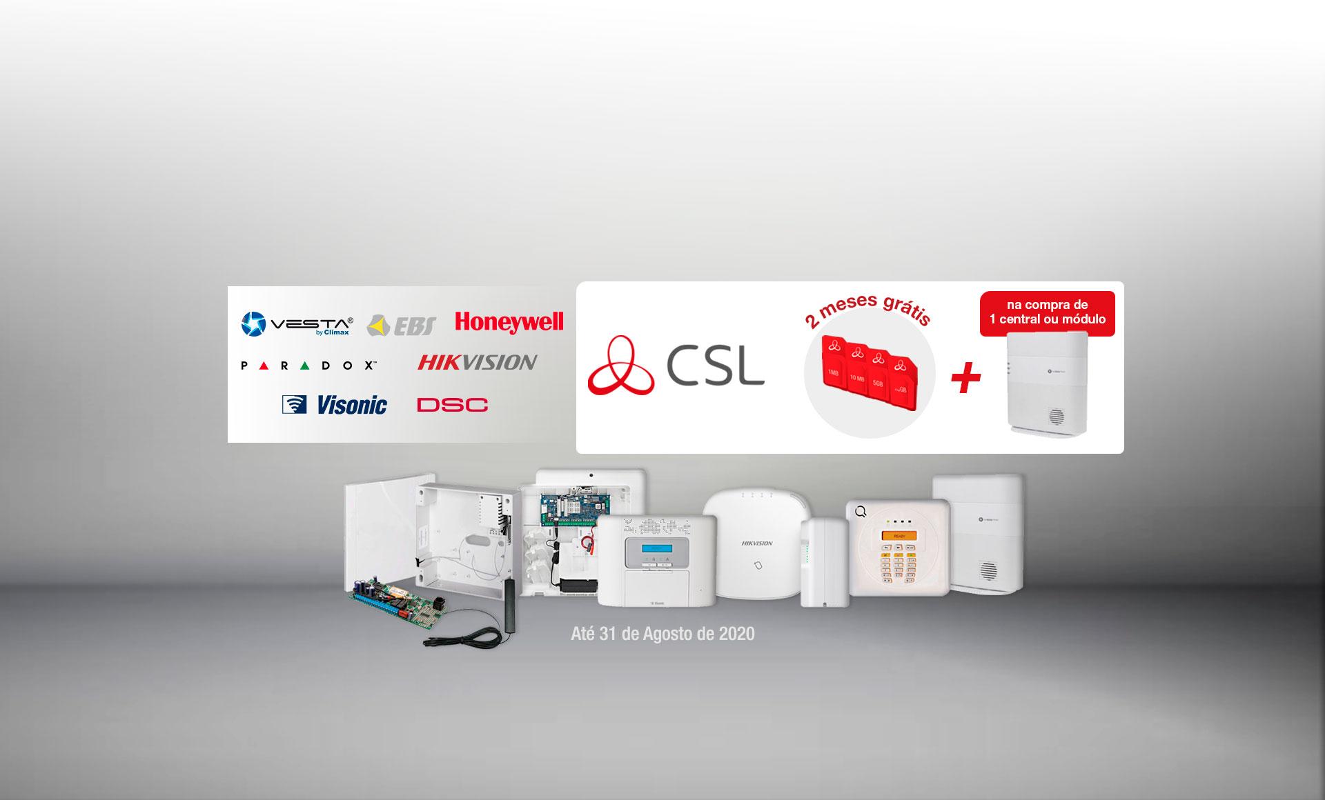 <b>2 meses de conexão CSL grátis por a compra de qualquer central ou módulo da By Demes</b>