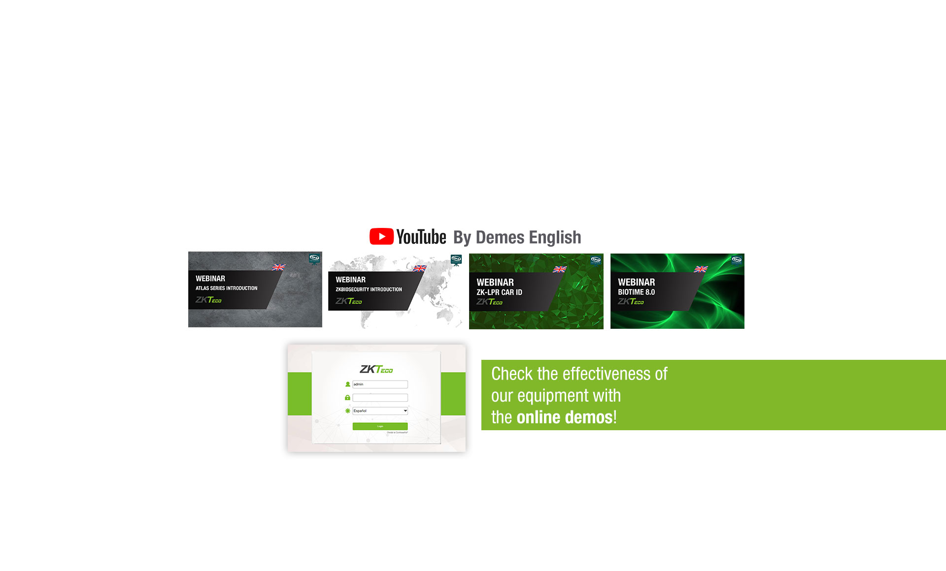 <b>ZKTeco webinars now available on our YouTube channel!</b>