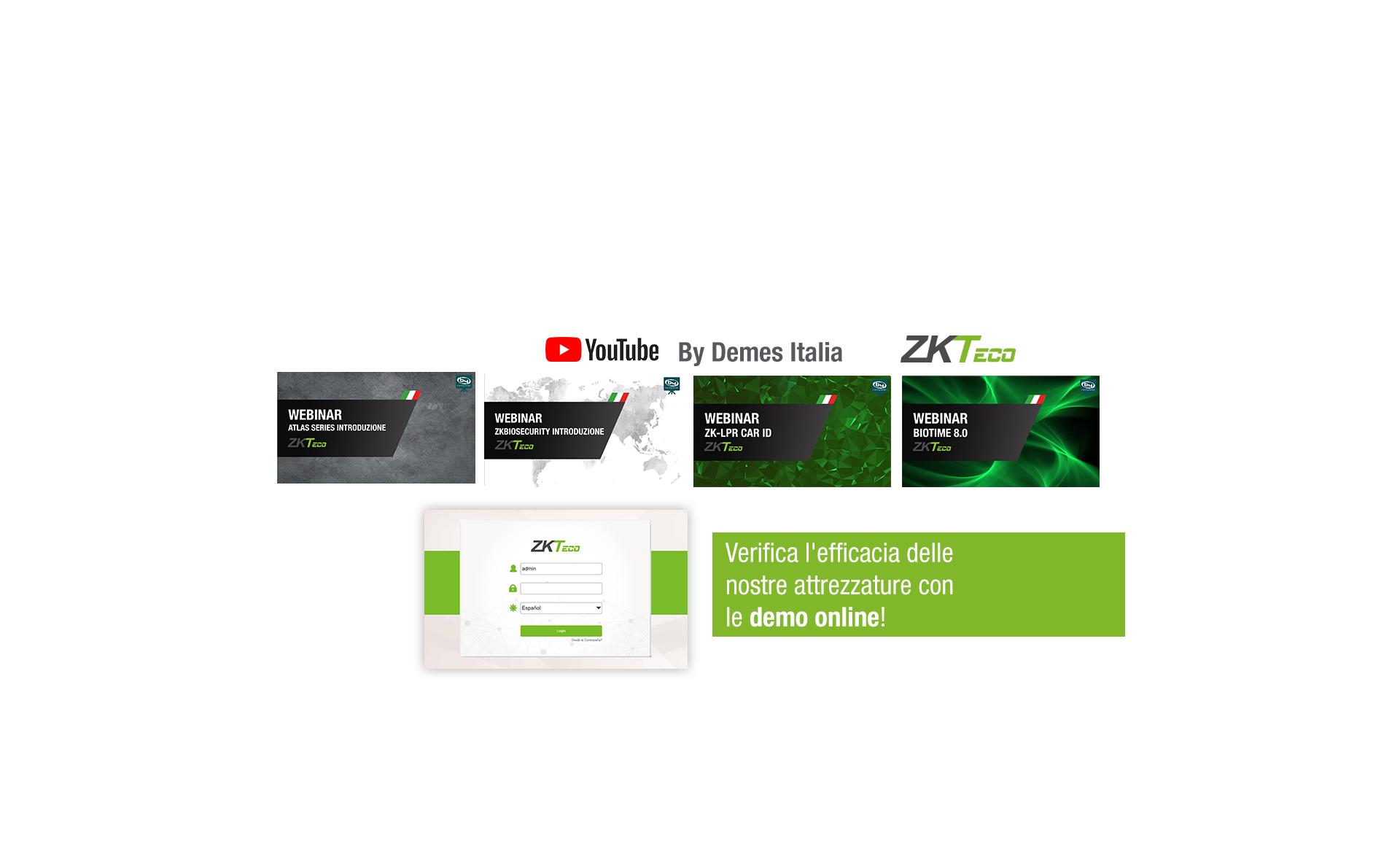 <b>I webinar ZKTeco sono ora disponibili sul nostro canale YouTube!</b>