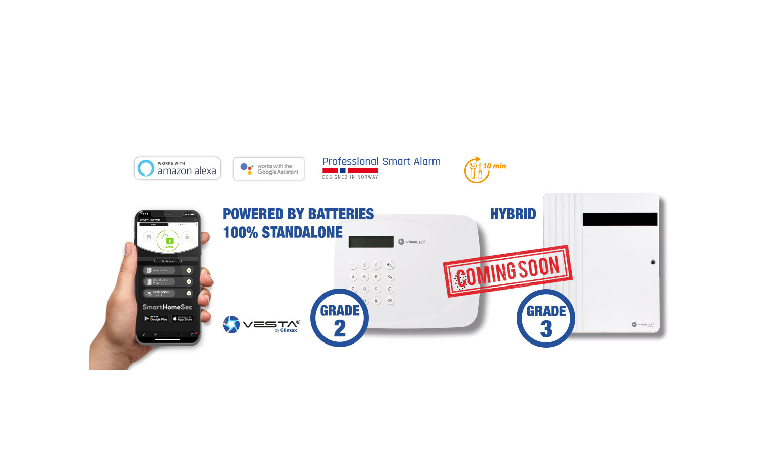 <b>Discover the innovative hybrid and standalone VESTA panels completely powered by batteries</b>