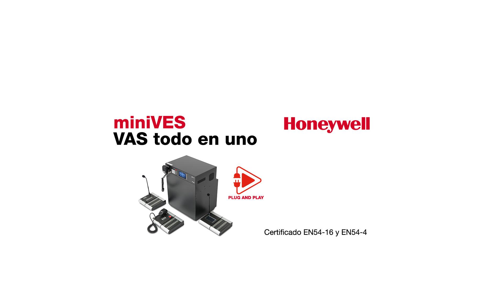 Nuevo sistema compacto de megafonía y alarma por voz miniVES by Honeywell