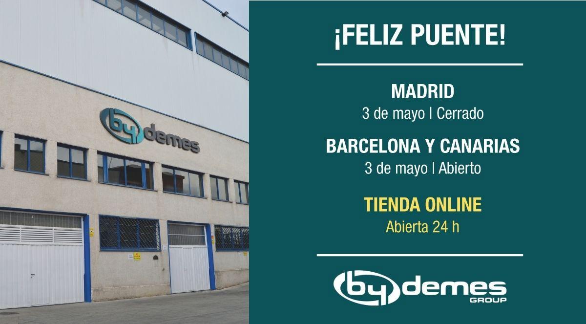 El 3 de mayo cerramos en la sede de Madrid