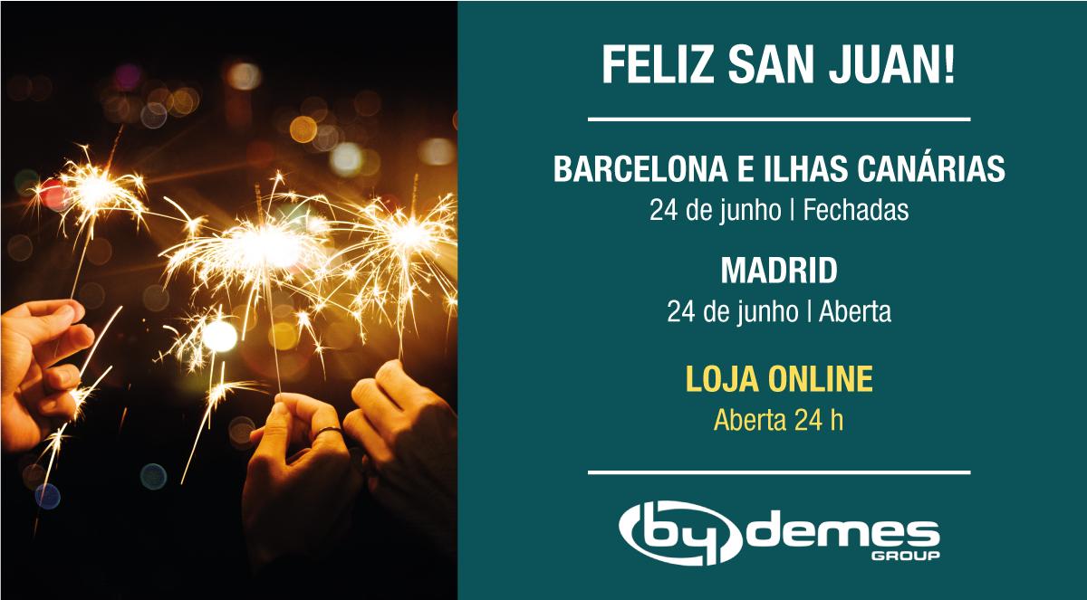No dia 24 de Junho fechamos em Barcelona e nas Ilhas Canárias