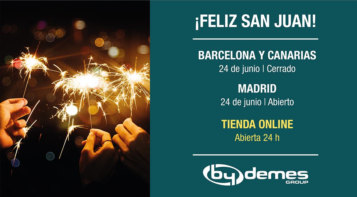 El 24 de junio cerramos en Barcelona y Canarias