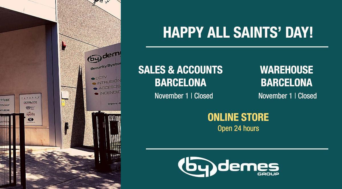 On November 1 Barcelona will be closed