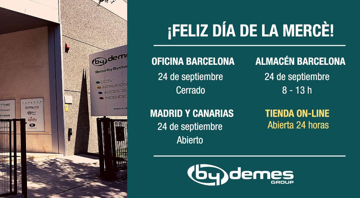 Horario especial del 24 de septiembre en Barcelona