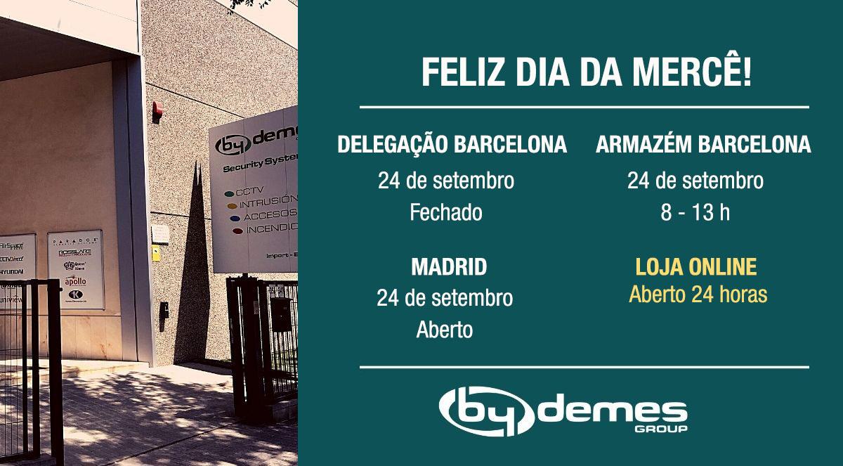 Horário especial no dia 24 de Setembro em Barcelona